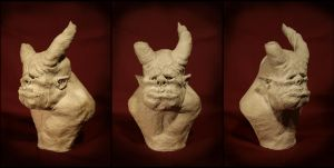 clay bust no.2 by kezeff
