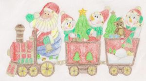 Santa's Train by summerdaze13