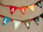 Close-Up of Alphabet Bunting by missmoon14