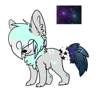 Galaxy-pup Rare adopt by xXfrosted-lightsXx
