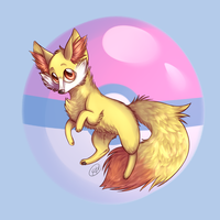 Fennekin by candy-behemoth