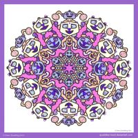 Across A Crowded Room Mandala I by Quaddles-Roost