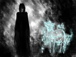 Snape and his patronus by Vivina13