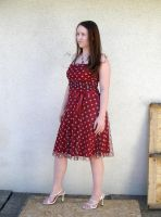 me red dress 3 by PhoeebStock