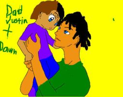 justin and the baby by paulinaghost