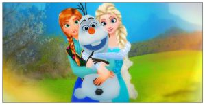 Our Little Snowman - Anna, Olaf and Elsa - Frozen by Rihedson