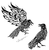 Hugin and Munin by Zusacre