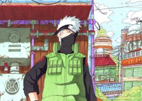 kakashi in summer time by emukcs
