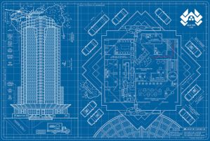 Nakatomi Footprint by APetrie74