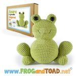 Amigurumi Crochet kit ANURA la grenouille the frog by FROG-and-TOAD