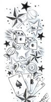 TattooDesign SweetsCherryStars by 2Face-Tattoo