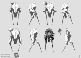 Concept Art RIDDICK AoDA - mech sketches by torvenius