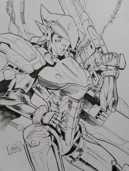 Pharah Overwatch Inks by SaviorsSon