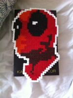 Deadpool - perler beads (2) by Rest-In-Pixels