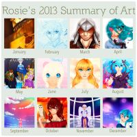Rosie's summary of 2013 art by RiddleMaker
