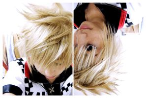 Roxas+WigTest+ by carnivalparade