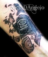 Jack Daniels Tattoo by NickDAngeloTattoos
