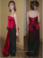 Red Corset and Gown by ladythesta