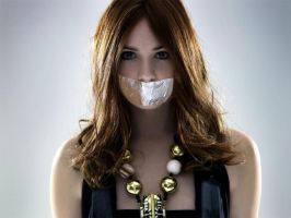 Karen Gillan Tape Gagged by The-email