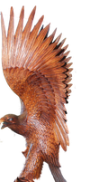 Eagle Wood Carving by mysticmorning