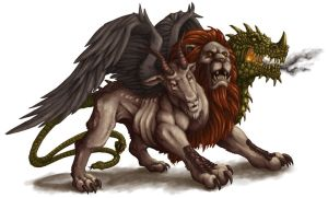 DS: Monsters - Chimera by willowWISP