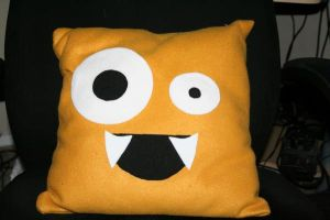 Monster pillow by Zombikisses