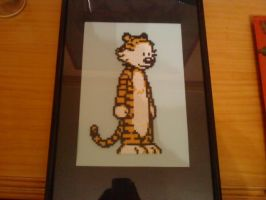 Hobbes, hama beads by Gandull