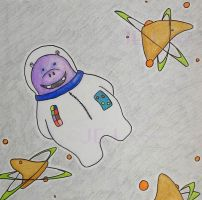 Day 3: Zippy the Space Hippo by SquirrelOfChaos