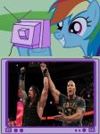 Rainbow Dash's Reaction To Royal Rumble by DigitBrony