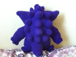 Gengar Amigurumi from the back by PrincessPegasister