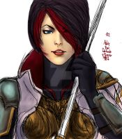 League of Legends Fiora colour sketch 01 by Vladsnake