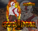 GOW kratos wall dbz by Naruttebayo67