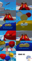 Blimp Sonic Heroes defeat Eggman comic by SonicInflationLover