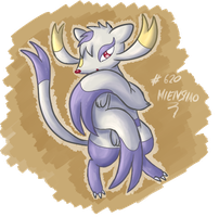 Til XMas Challenge: Fav. Fighting Type: Mienshao by fuwante-chan