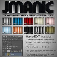 Jmanic Icons - Striped Pack 2 .PSD by AutographGFX
