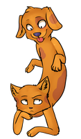 CatDog by ninetail-fox