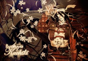 Byakuya Kuchiki,sakura leaves wallpaper by tinakii