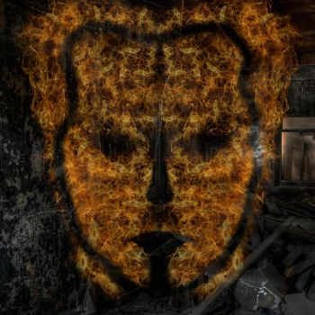 Fire face by StormPs