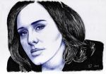 Adele Hello :) pen and paper by IvanJovanovic