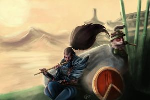 Yasuo and Teemo by T-S-L