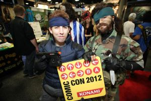 SDCC2012 - Naked and Solid Snake with Konami Code by SnowBunnyStudios