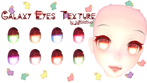 [MMD] Galaxy Eyes Texture DL by JustLunaLover