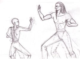 Avatar - Fight Sketch by wunleebuxton