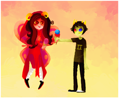 Aradia and Sollux by ashlooloo
