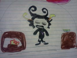 Gamzee (Drawn by my 8 year old cousin) by Blossom-RiotPoof