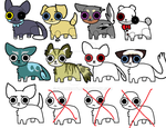 Adoptables CHEAP AND FNAF by nikathewolf005