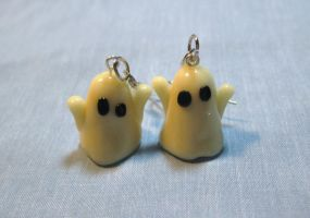 Ghost Earrings by kitcat4056