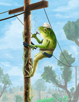 Frog Lineman by Appletail