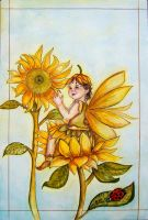 Sunflower Baby Fae by bloodylady