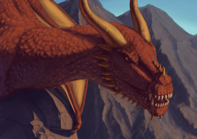 Mountain wyvern by TheMetasepia
